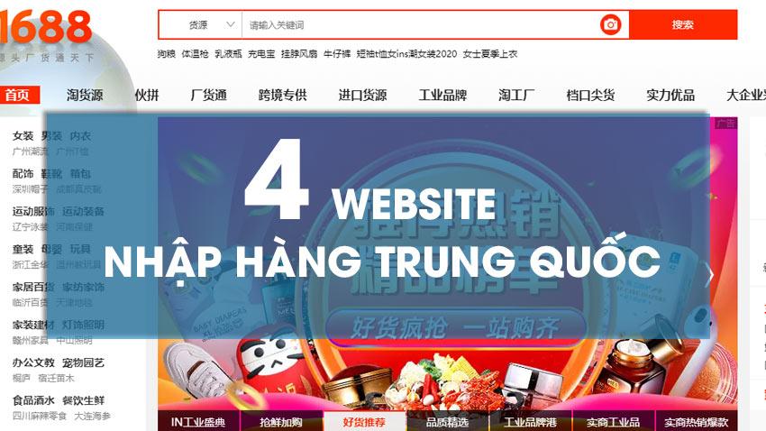 4 Website nhập hàng Trung Quốc