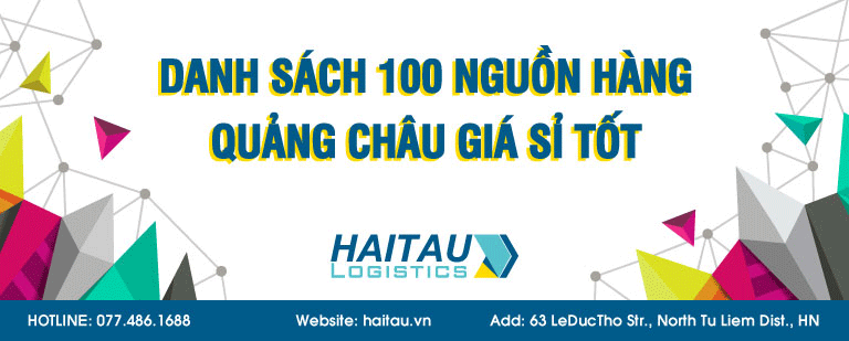 Danh sách 100 quảng cáo hàng hóa Quảng Châu