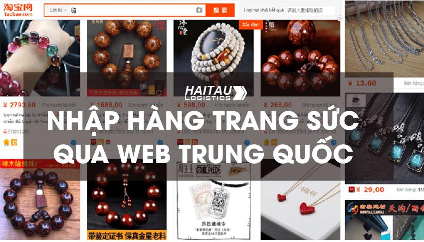 Nhập hàng trang sức Quảng Châu qua web Trung Quốc