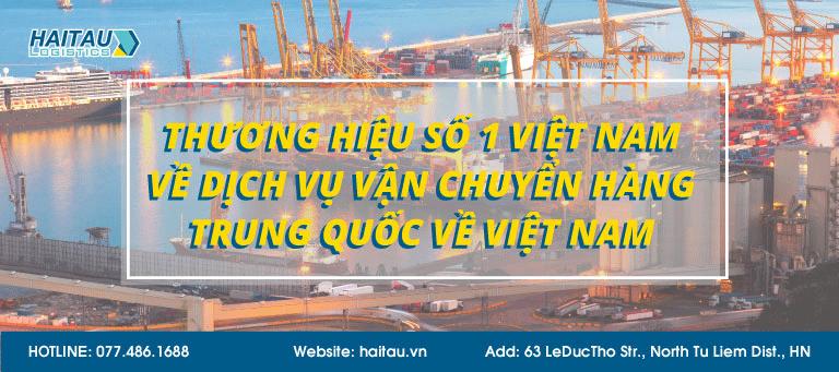 Vận chuyển hàng TRung Quốc về Việt Nam giá cực tốt