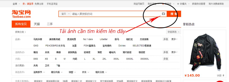 Tìm kiếm nguồn hàng Taobao bằng hình ảnh