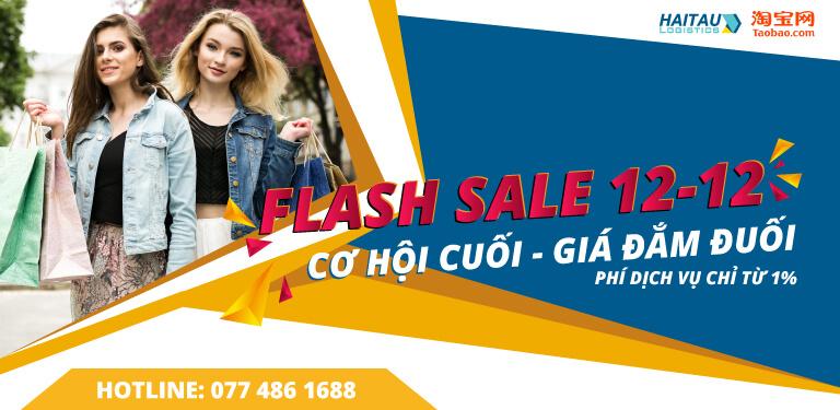 Flash Sale 12/12 – Sale khủng Taobao cuối năm