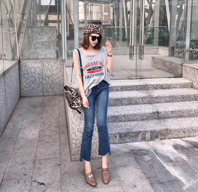 Quần jean nữ ống loe Quảng Châu