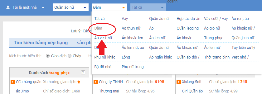 Click chuột vào dòng chữ theo hình trên