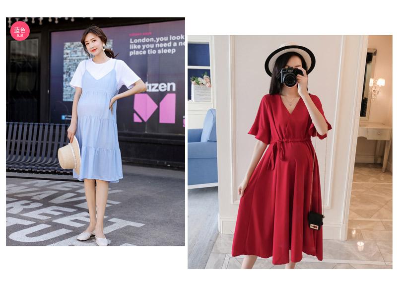 Mẫu váy bầu sành điệu, thiết kế đơn giản, trẻ trung