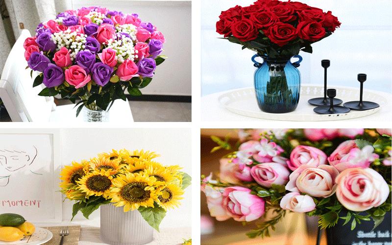 hoa giả lụa