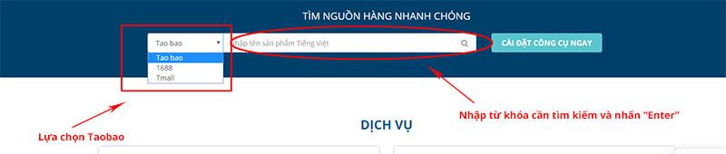 hướng dẫn tìm kiếm nguồn hàng Taobao trên Haitau.vn