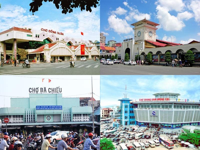 Một số hình ảnh chợ đầu mối tại Việt Nam