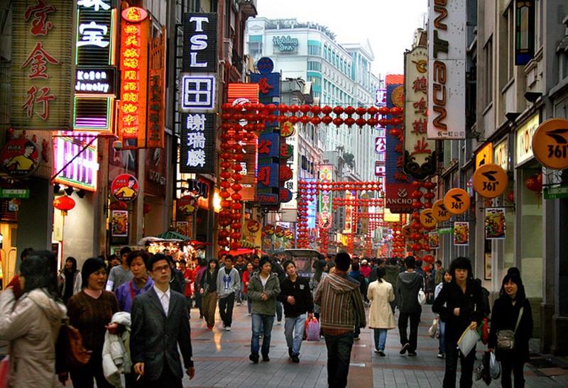 Một góc nhỏ tại khu chợ đầu mối Trung Quốc
