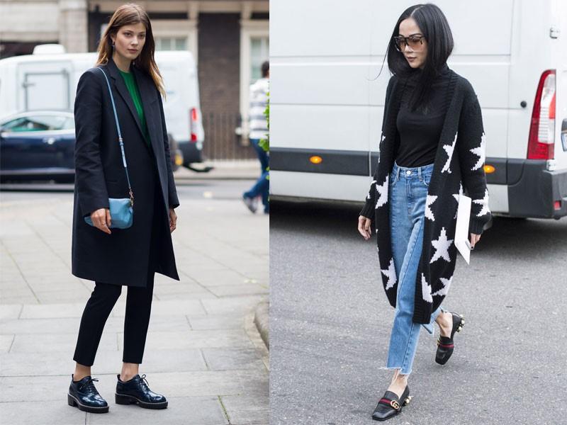 Giày lười nữ cao gót