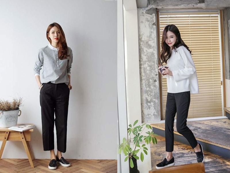 Giày lười nữ cá tính đế cao
