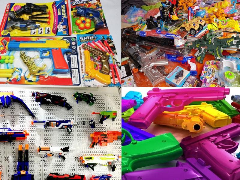 Súng đồ chơi đa dạng mẫu mã màu sắc