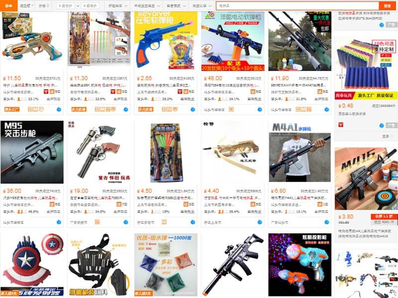 Nguồn hàng súng đồ chơi trên trang TMĐT