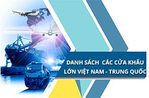Danh sách các cửa khẩu lớn trên biên giới Việt Nam Trung Quốc