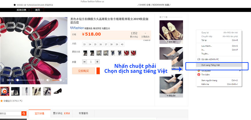 Dịch website sang tiếng Việt