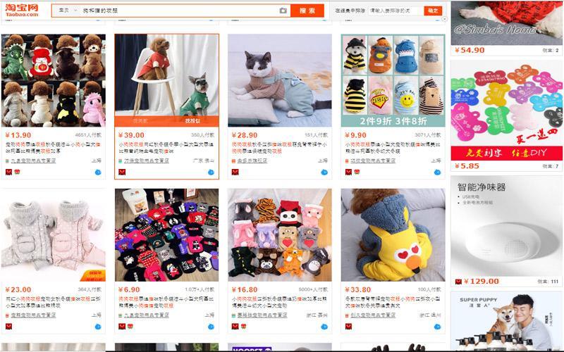 Đặt mua phụ kiện quần áo chó mèo trên website