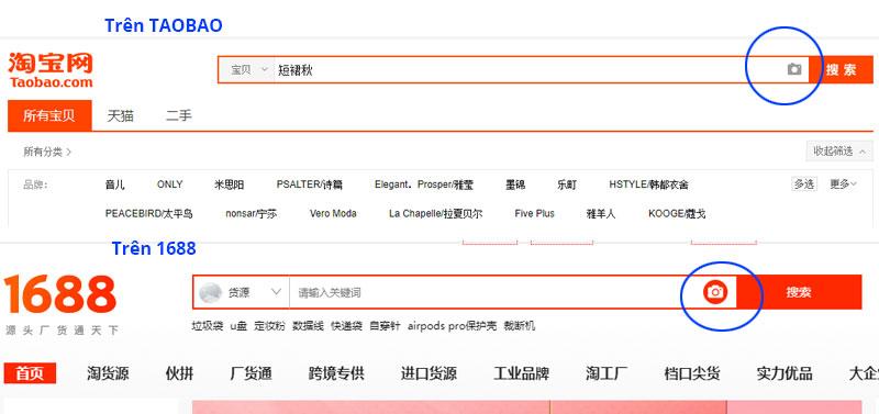 Tìm kiếm bằng hình ảnh trên Taobao, 1688