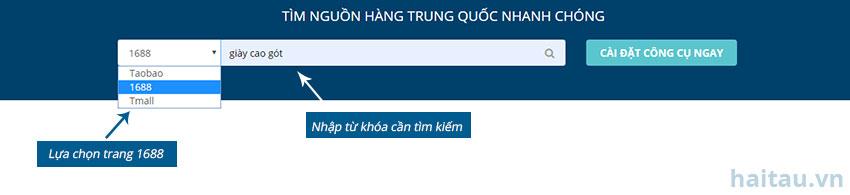 Hình 3.4. Tìm kiếm sản phẩm bằng tiếng Việt trên Hải Tàu Logistics