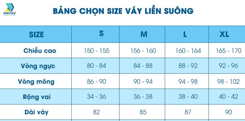 Chọn size váy liền, suông cho nữ khi order quần áo Taobao