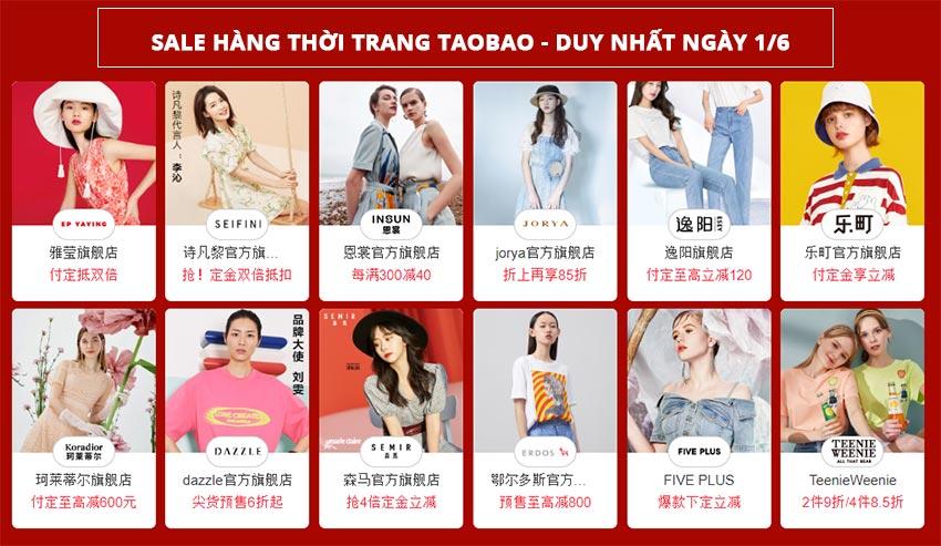 Hàng thời trang sale sập sàn Taobao 1/6