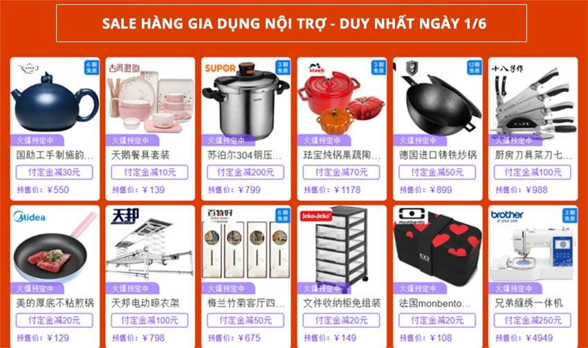 Sale hàng gia dụng Taobao - Duy nhất ngày 1/6