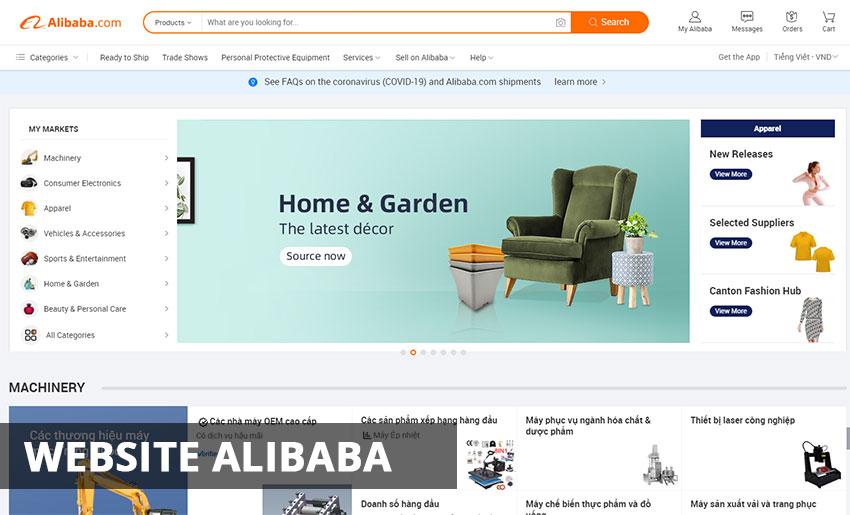Website Alibaba - alibaba.com