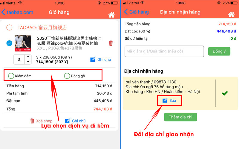 Mua hàng Taobao trên điện thoại