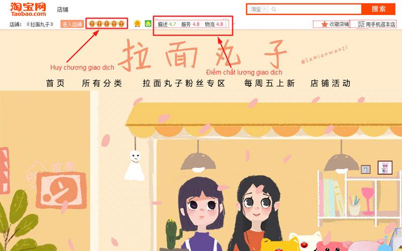 Shop Taobao túi xách Ramen Maruko