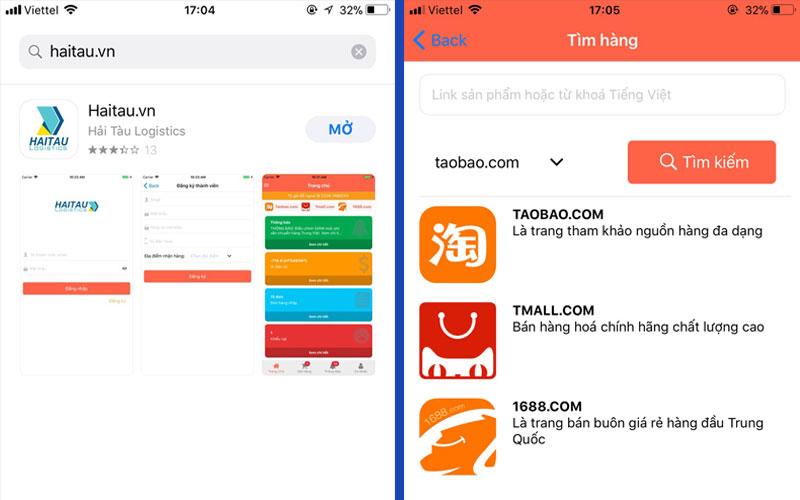 App mua hàng Taobao tiếng Việt của HAITAU.VN