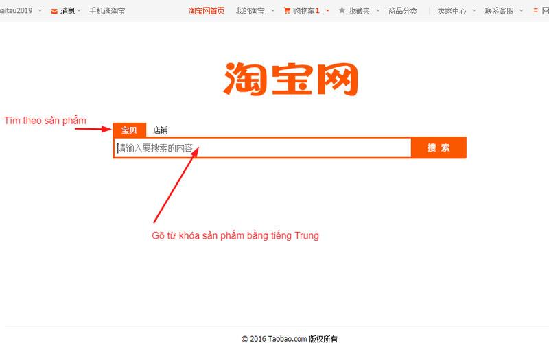 Tìm sản phẩm bán chạy Taobao