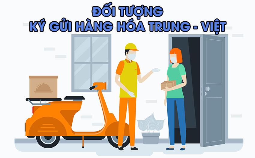 Đối tượng ký gửi hàng hóa Trung - Việt