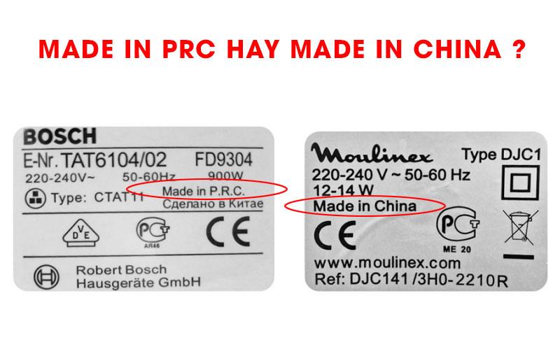 Made in PRC có khác gì Made in China không?